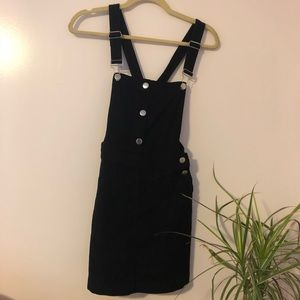 Black Jean Overall Dress